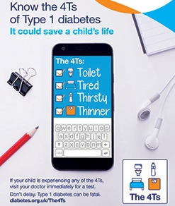 Know your 4Ts and help fight diabetes ( Diabetes Week :11th - 17th June)
