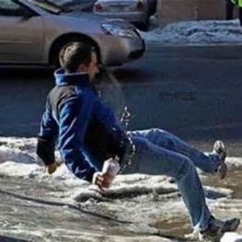 Watch out – there's ice about!